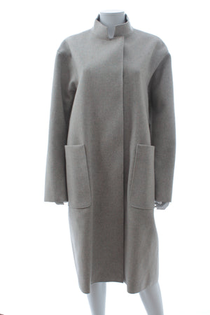 Victoria Beckham Melange Wool Felt Drop Shoulder Coat