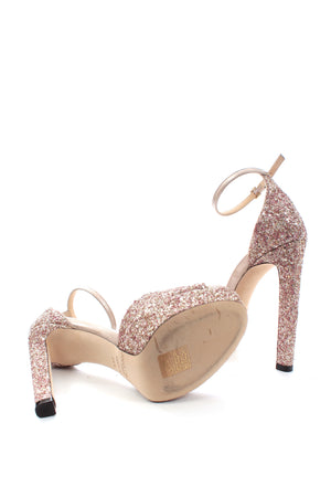 Jimmy Choo Pattie 130 Glitter Platform Sandals