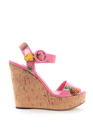 Dolce & Gabbana Pineapple Wedge Sandals