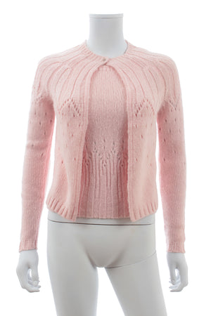 Gianni Versace Pointelle Knit Twinset
