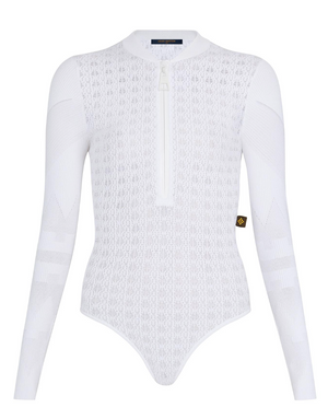 Louis Vuitton Openwork Lace Knit Bodysuit - Current Season
