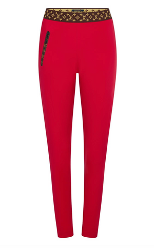 Louis Vuitton Technical Jersey Leggings with Monogram Detail - Current Season