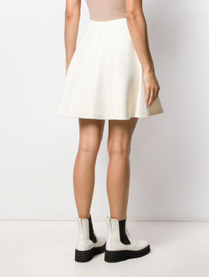 Courrèges High Waisted Wool-Blend Mini Skirt