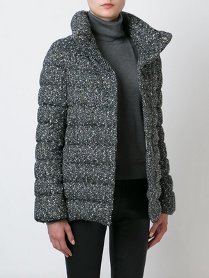 Herno Bouclé Knit Down Coat