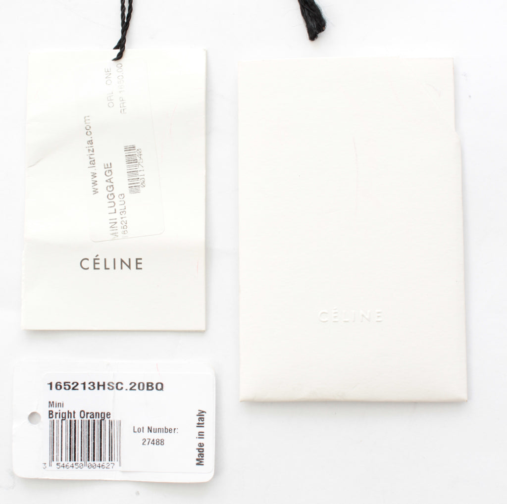 Celine Mini Luggage Bag in Smooth Calfskin