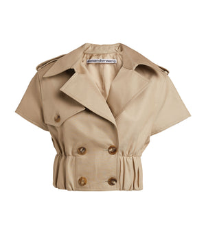 Alexander Wang Cropped Trench Jacket - Current Season