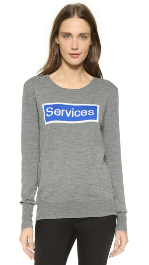 Anya Hindmarch Services Merino Wool Sweater