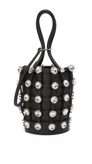 Alexander Wang Roxy Crystal Mini Bucket Bag