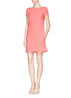 Emilio Pucci Ruffle Hem Wool Crepe Dress