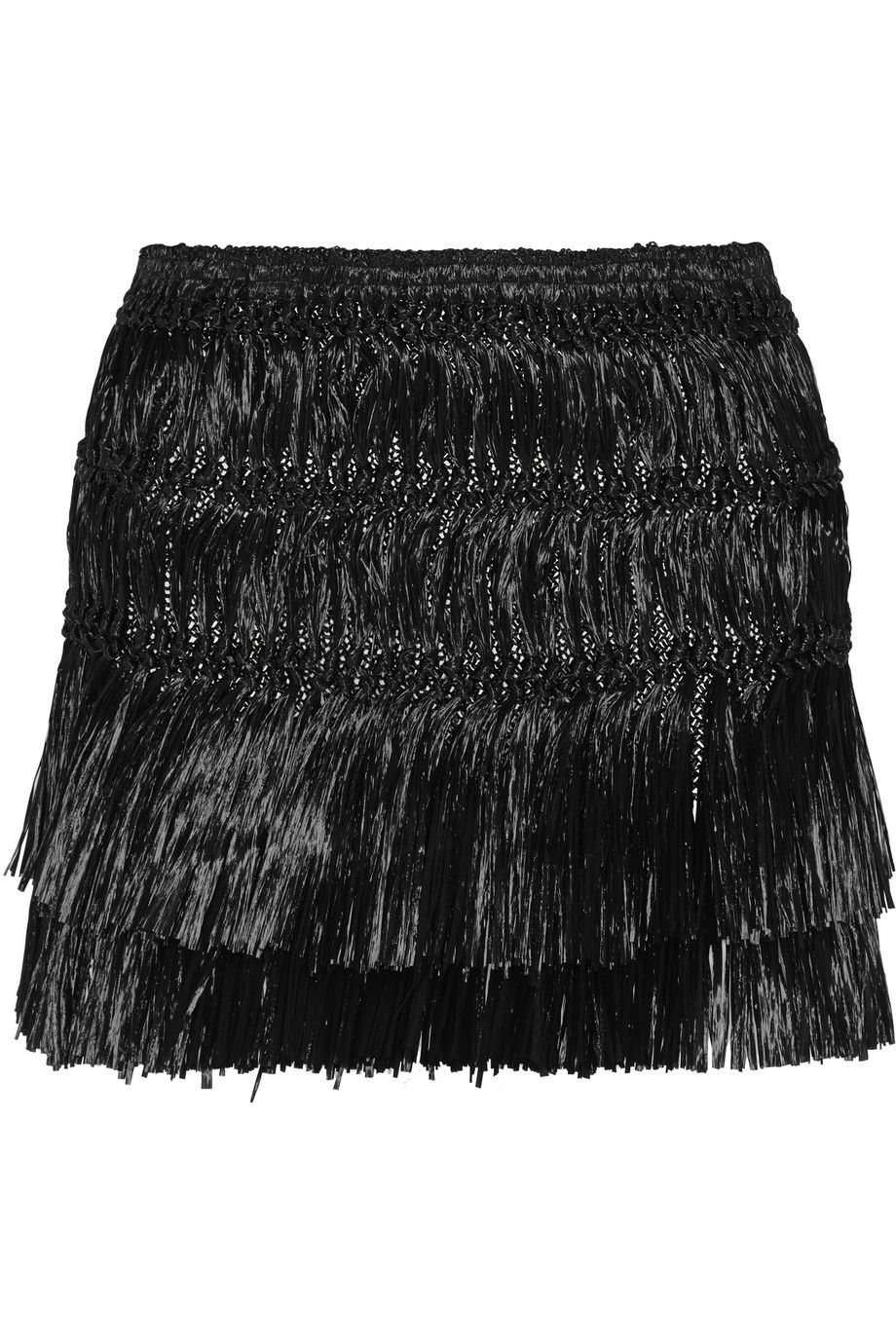 Isabel Marant Copal Fringed Faux Raffia Mini Skirt - Runway Collection