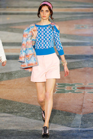 Chanel Cotton-Drill Shorts - Chanel 2017 Coco Cuba Cruise Collection