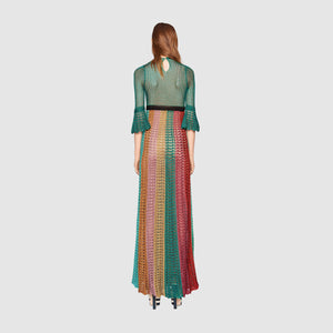 Gucci Multi Stripe Lurex Knitted Dress (Spring/Summer 2016 Runway Collection)