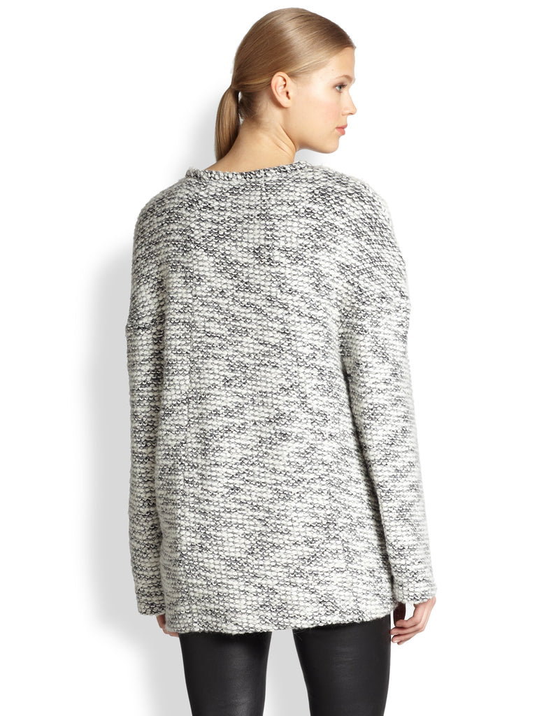 Helmut Lang 'Source' Chunky Knit Marled Oversized Sweater