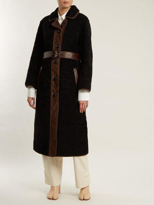 Joseph 'Reyk' Leather-Panelled Shearling Coat