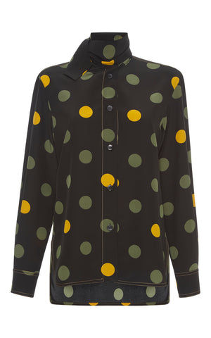Marni Polka-Dot Silk Blouse