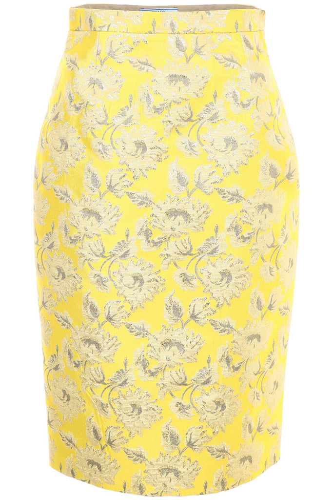 Prada Lurex Jacquard Pencil Skirt