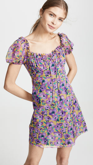 Raquel Diniz 'Alice' Silk Mini Dress