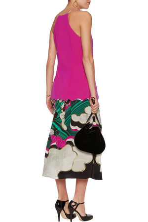 Mary Katrantzou 'Garnet' Sleeveless Crepe Top