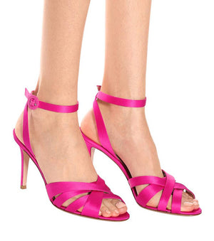 Gianvito Rossi Satin Strap Sandals