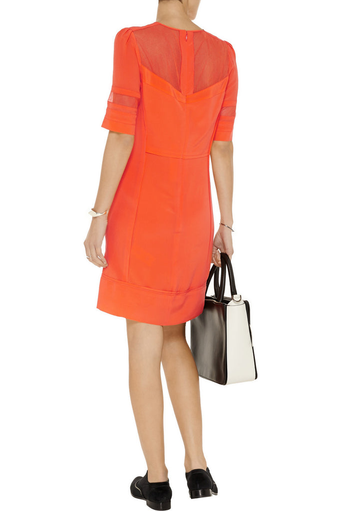 Victoria, Victoria Beckham Silk Panelled Dress