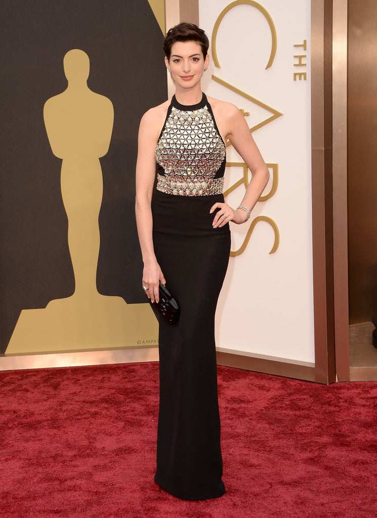Gucci Crystal-Embellished Silk Gown (Fall '14 Collection - worn at the Oscar's)