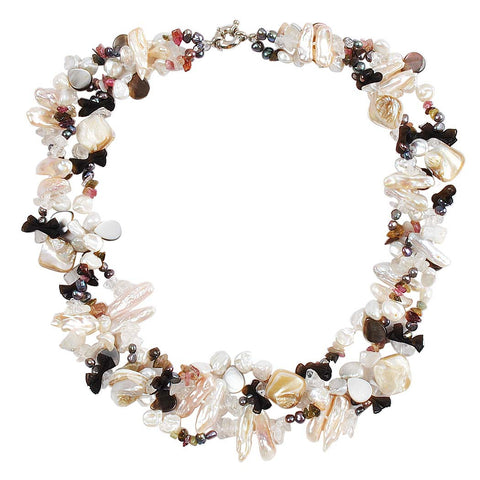 Baroque Pearl Shell Layering Necklace