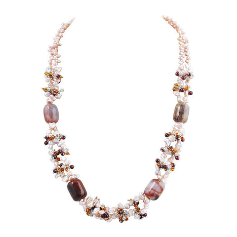 Pearl Design Fashion Statement Necklace