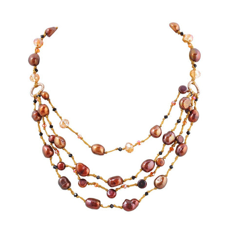 Baroque Pearl Beaded Layering Necklace