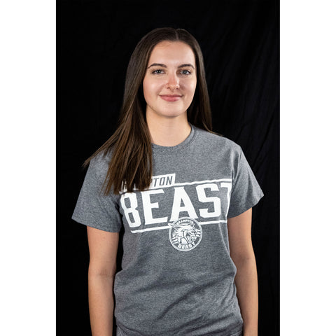 Unisex Basic Beast Adult T-Shirt Grey