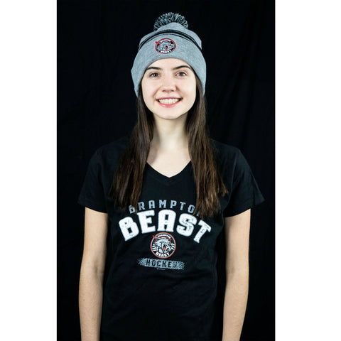 Basic Beast Girls V-Neck Black