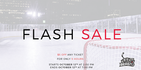 $5 off | 5 Hours | Home Opener October 13th, 2018