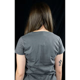 Basic Beast Ladies V-Neck T-Shirt Grey