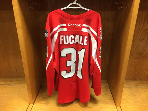 2016-17 Brampton Beast ECHL Warm-Up Jersey #31 Zach Fucale
