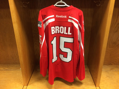 2016-17 Brampton Beast ECHL Warm-Up Jersey #15 David Broll (Game Issued)