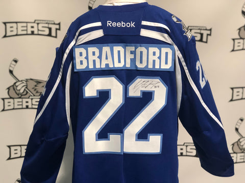 Brampton Beast ECHL Warm-Up Jersey #22 Erik Bradford (Game Worn)