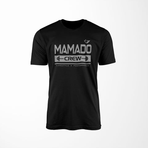 Mamado Crew v2 - Black - Physique Evolution - Fitness - Gymwear - livefit