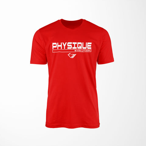 Physique Evolution Frame Shirt - Red - Physique Evolution - Fitness - Gymwear - livefit