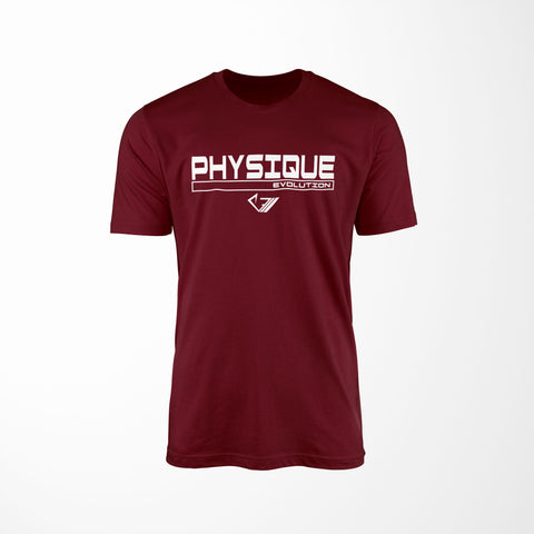 Physique Evolution Frame Shirt - Maroon - Physique Evolution - Fitness - Gymwear - livefit