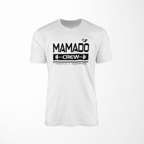Mamado Crew v2 - White - Physique Evolution - Fitness - Gymwear - livefit
