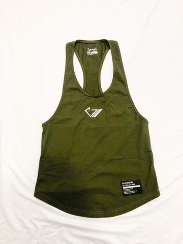 PQEV Original Stringer - Army Green - Physique Evolution - Fitness - Gymwear - livefit