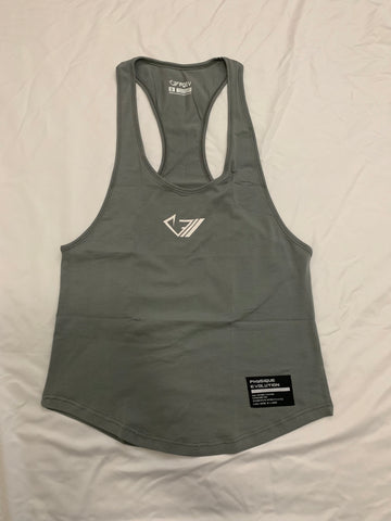 PQEV Original Stringer - Dark Grey - Physique Evolution - Fitness - Gymwear - livefit