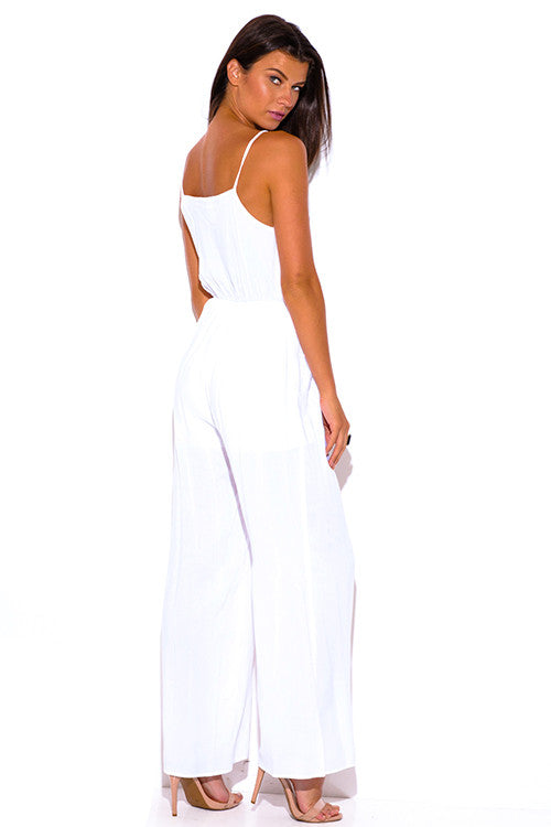 Yasim White Pocketed Wide Leg Jumpsuit