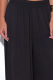 Mada Black Chiffon Palazzo Pants with Pockets