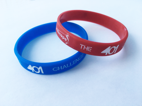The Official 401 Challenge Kids Wristbands