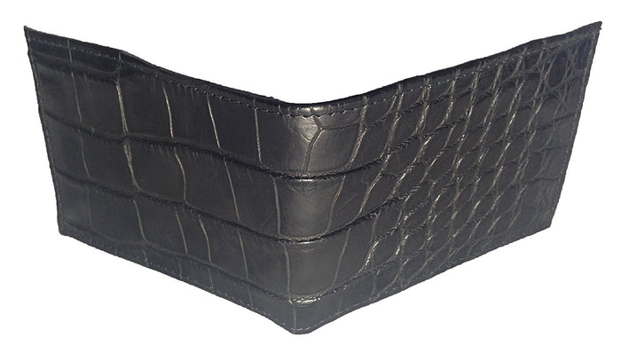 Alligator Outside Bifold Wallet - Black Safari (Semi-Gloss)