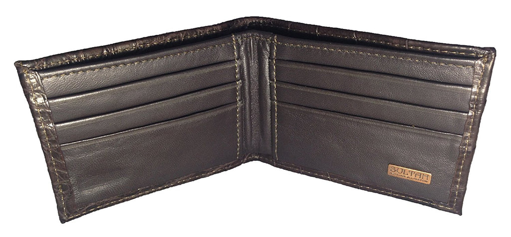 Alligator Outside Bifold Wallet - Brown Safari (Semi-Gloss)