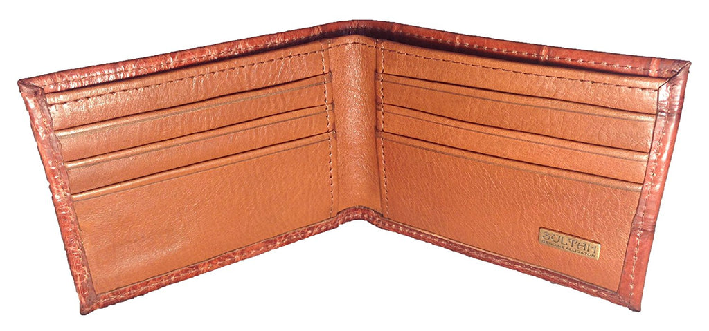 Alligator Outside Bifold Wallet - Cognac Safari (Semi-Gloss)