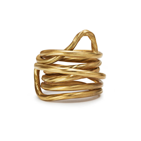 RA Twisted 18 K Gold Ring