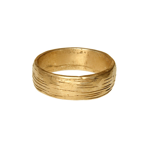 LESS IS MORE 3 mm 18 K Gold Tube Ring