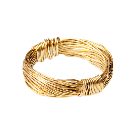 B.C. 18 K Gold Thread Ring